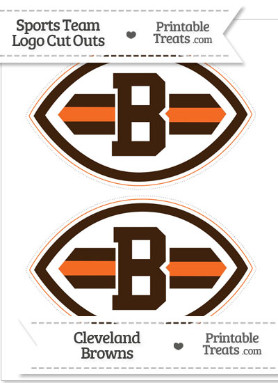 Medium Cleveland Browns Logo Cut Outs from PrintableTreats.com