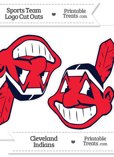 Medium Cleveland Indians Logo Cut Outs from PrintableTreats.com