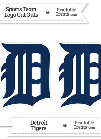 Medium Detroit Tigers Logo Cut Outs from PrintableTreats.com