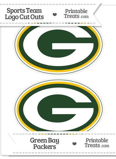 Medium Green Bay Packers Logo Cut Outs from PrintableTreats.com