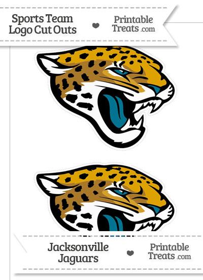 Medium Jacksonville Jaguars Logo Cut Outs from PrintableTreats.com