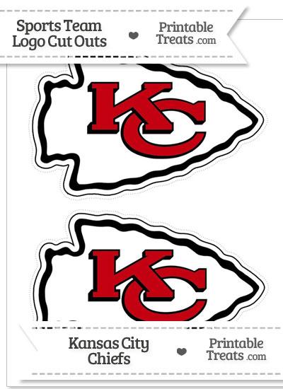 Medium Kansas City Chiefs Logo Cut Outs — Printable Treats.com