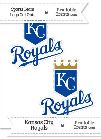 Medium Kansas City Royals Logo Cut Outs from PrintableTreats.com