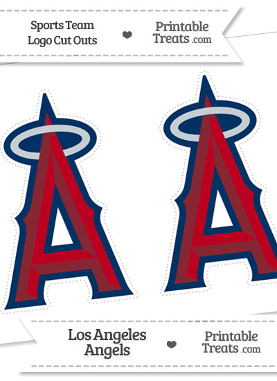 Medium Los Angeles Angels Logo Cut Outs from PrintableTreats.com