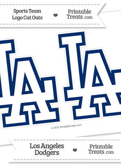 Medium Los Angeles Dodgers Logo Cut Outs from PrintableTreats.com
