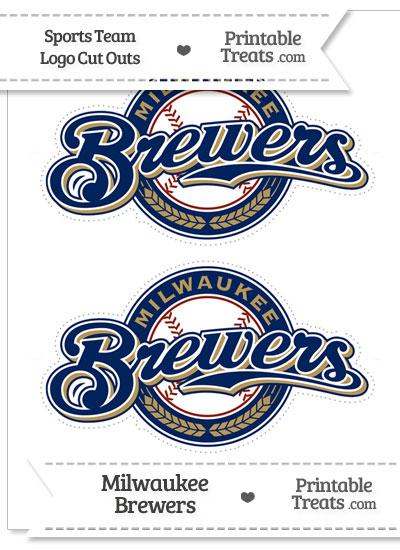 Medium Milwaukee Brewers Logo Cut Outs from PrintableTreats.com