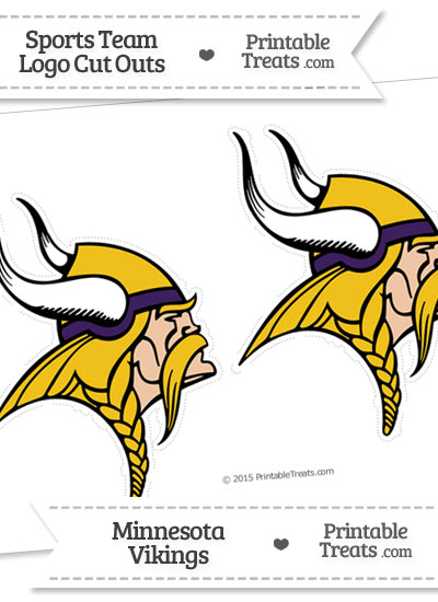Medium Minnesota Vikings Logo Cut Outs from PrintableTreats.com
