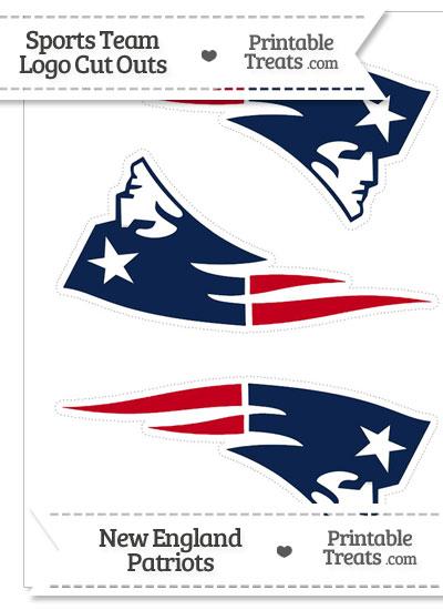 Medium New England Patriots Logo Cut Outs from PrintableTreats.com