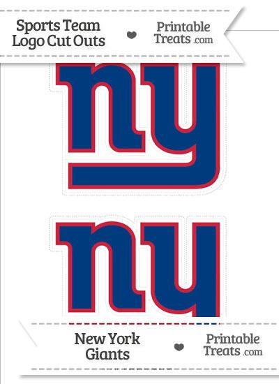 Medium New York Giants Logo Cut Outs from PrintableTreats.com