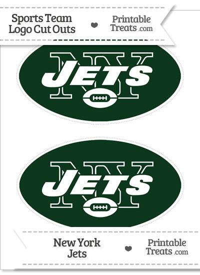 Medium New York Jets Logo Cut Outs from PrintableTreats.com