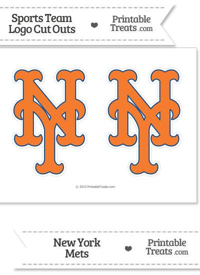 Medium New York Mets Logo Cut Outs from PrintableTreats.com