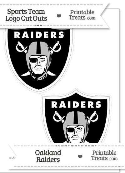 Medium Oakland Raiders Logo Cut Outs from PrintableTreats.com