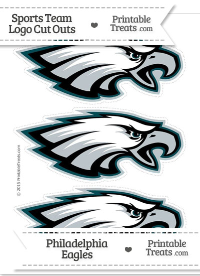 Medium Philadelphia Eagles Logo Cut Outs from PrintableTreats.com