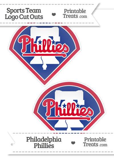 Medium Philadelphia Phillies Logo Cut Outs from PrintableTreats.com