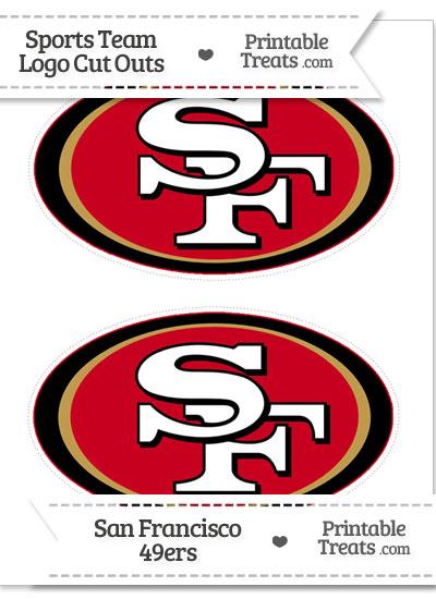 Medium San Francisco 49ers Logo Cut Outs from PrintableTreats.com