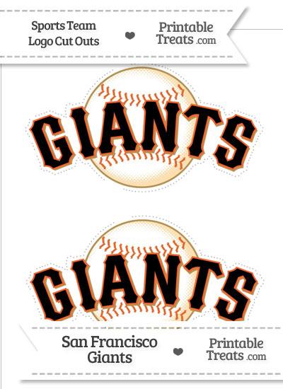 Medium San Francisco Giants Logo Cut Outs from PrintableTreats.com