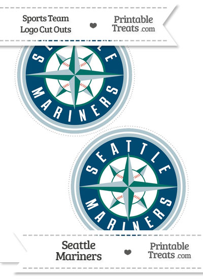 Medium Seattle Mariners Logo Cut Outs from PrintableTreats.com
