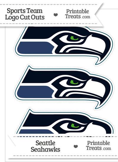 Medium Seattle Seahawks Logo Cut Outs from PrintableTreats.com