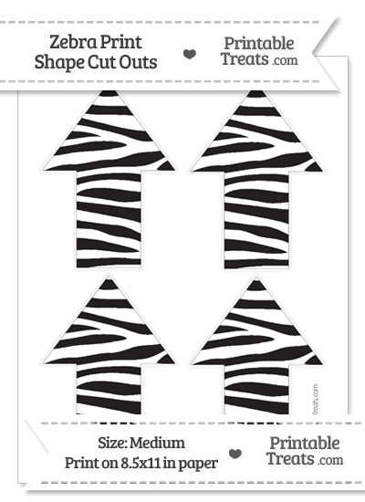 Medium Sized Zebra Print Arrow Cut Outs from PrintableTreats.com