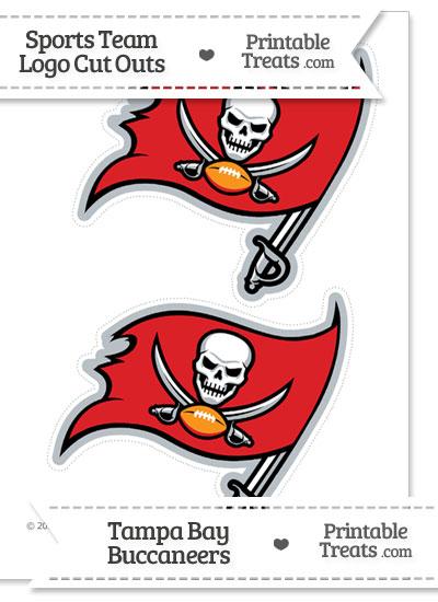 Medium Tampa Bay Buccaneers Logo Cut Outs from PrintableTreats.com