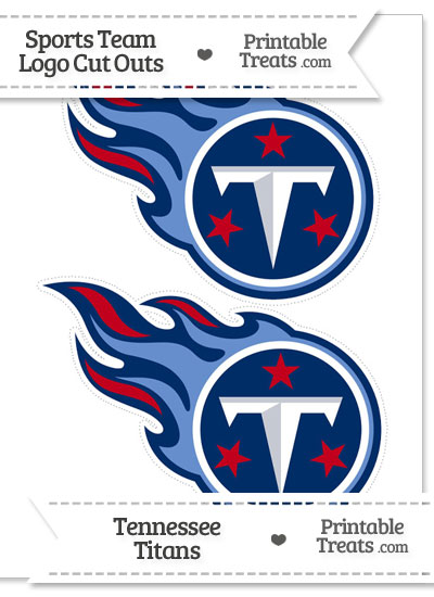 Medium Tennessee Titans Logo Cut Outs from PrintableTreats.com