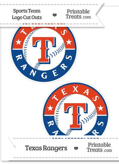 Medium Texas Rangers Logo Cut Outs from PrintableTreats.com
