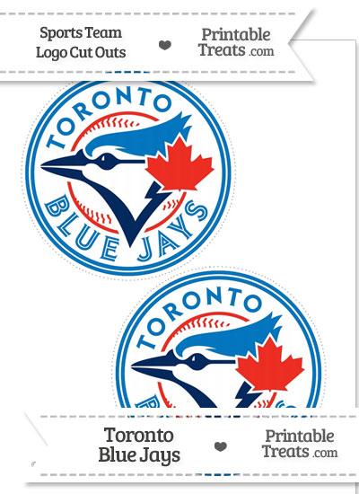 Medium Toronto Blue Jays Logo Cut Outs from PrintableTreats.com