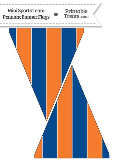 Mets Colors Mini Pennant Banner Flags from PrintableTreats.com