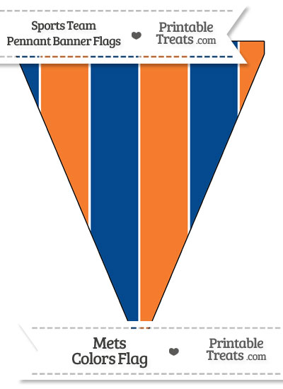 Mets Colors Pennant Banner Flag from PrintableTreats.com