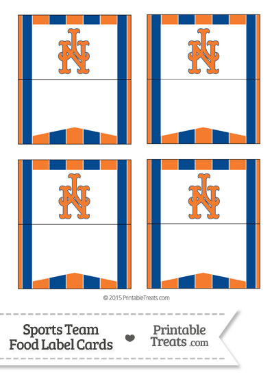 Mets Food Label Buffet Cards from PrintableTreats.com