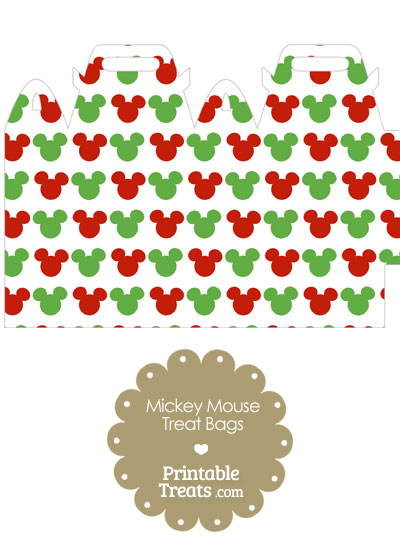 Mickey Mouse Christmas Treat Bag from PrintableTreats.com