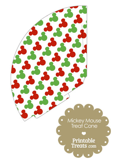 Mickey Mouse Christmas Treat Cone from PrintableTreats.com