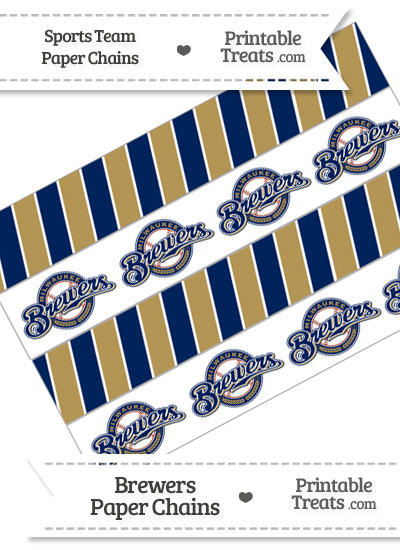 Milwaukee Brewers Paper Chains from PrintableTreats.com