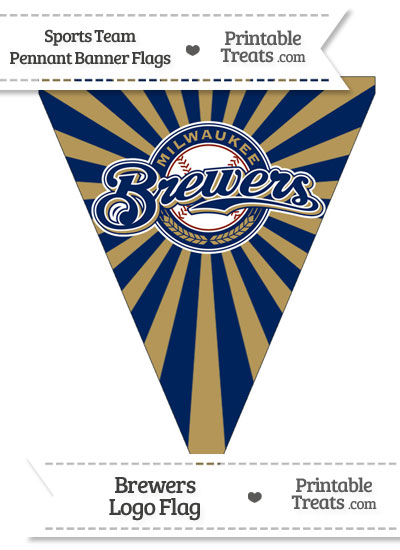 Milwaukee Brewers Pennant Banner Flag from PrintableTreats.com