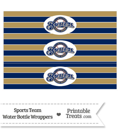 Milwaukee Brewers Water Bottle Wrappers from PrintableTreats.com