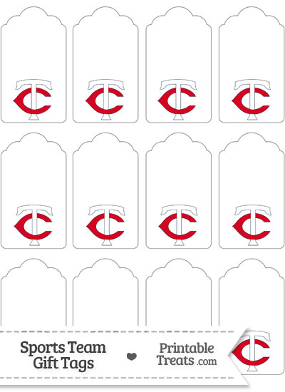Minnesota Twins Gift Tags from PrintableTreats.com