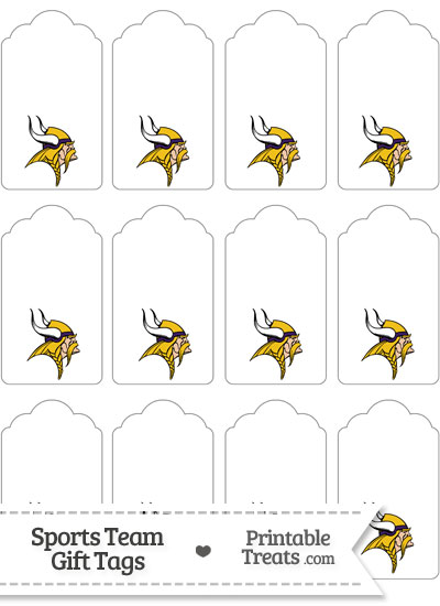 Minnesota Vikings Gift Tags from PrintableTreats.com