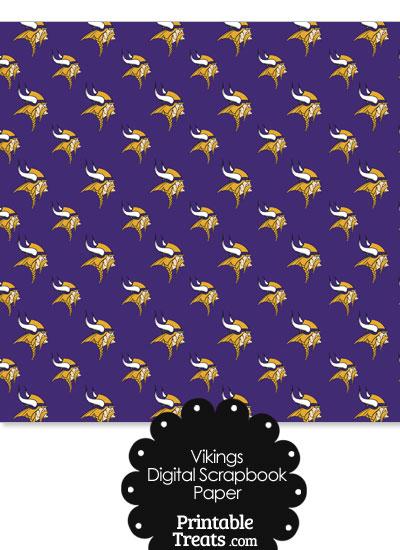 Minnesota Vikings Logo Digital Paper with Purple Background from PrintableTreats.com