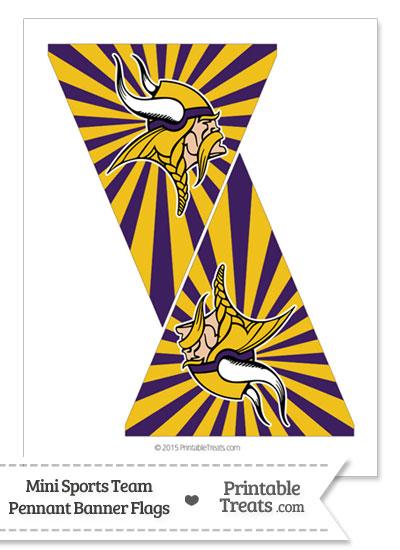 Minnesota Vikings Mini Pennant Banner Flags from PrintableTreats.com