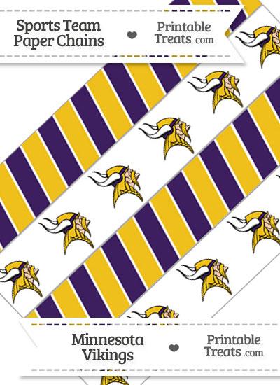 Minnesota Vikings Paper Chains from PrintableTreats.com