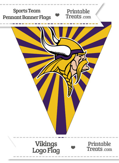 Minnesota Vikings Pennant Banner Flag from PrintableTreats.com