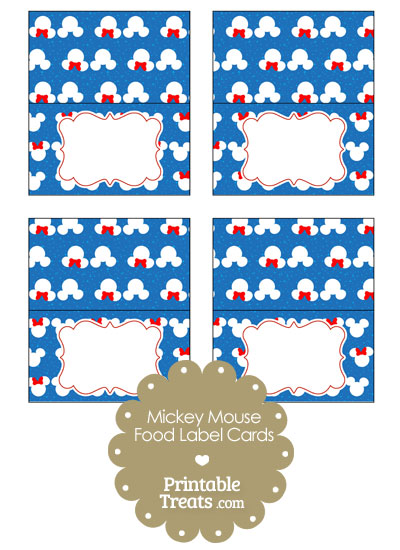 Minnie and Mickey Snow Theme Food Labels from PrintableTreats.com