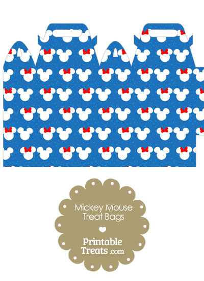 Minnie and Mickey Snow Theme Treat Bag from PrintableTreats.com