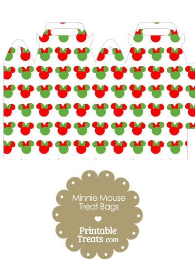 Minnie Mouse Christmas Treat Bag from PrintableTreats.com