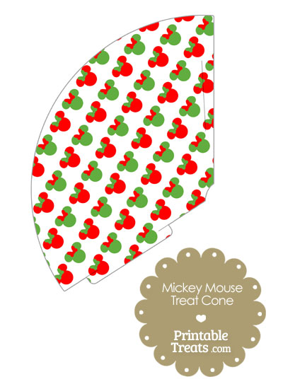 Minnie Mouse Christmas Treat Cone from PrintableTreats.com