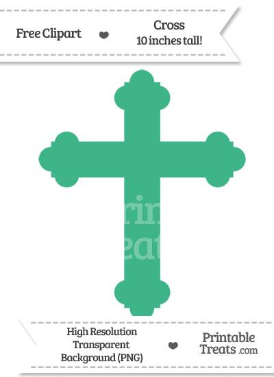 Mint Green Cross Clipart from PrintableTreats.com