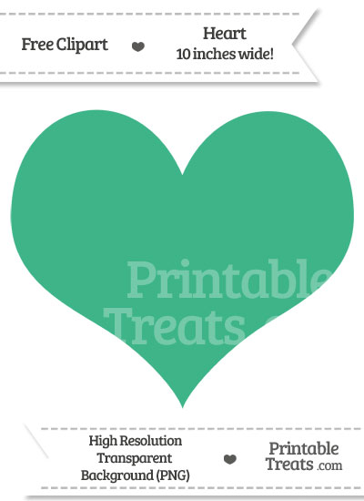 Mint Green Heart Clipart from PrintableTreats.com