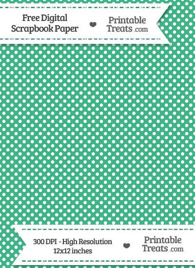 Mint Green Raised Mini Polka Dots Digital Paper from PrintableTreats.com