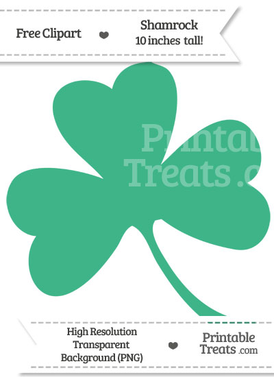 Mint Green Shamrock Clipart from PrintableTreats.com