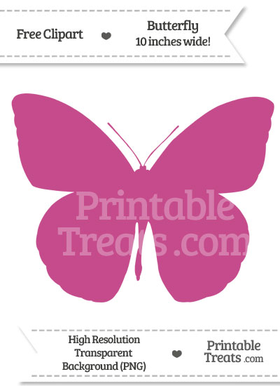 Mulberry Purple Butterfly Clipart from PrintableTreats.com